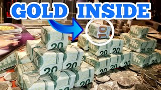 CASH PYRAMIDS WITH GOLD Inside The High Limit Coin Pusher Jackpot ASMR