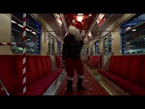 Christmas Metro Train in Warsaw
