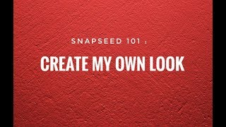 Cover images SNAPSEED 101 : CREATE YOUR OWN LOOK