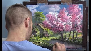 Pink Trees in Spring | Paint with Kevin®