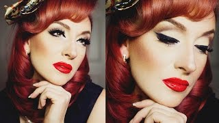 Pin Up Old Hollywood full face Makeup Tutorial with tricks and tips