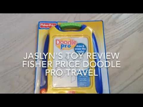 FISHER PRICE DOODLE PRO TRAVEL JASLYN TV TOY REVIEW
