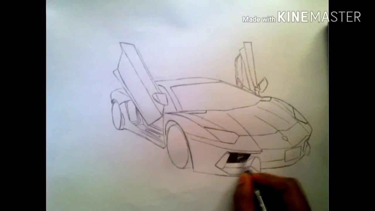 Aventador shading sketch 2017