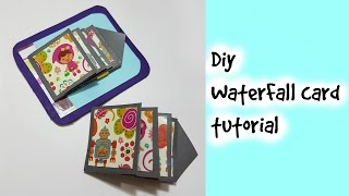 DIY water fall card /How to make Waterfall card