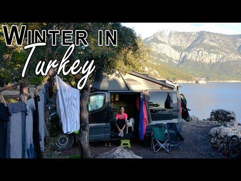 S1-E28 Vanlife Turkey - Visiting Mount Chimaera constantly burning fires