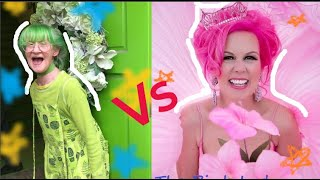 Pink Lady VS Green Lady||Beautiful Ladies| The Pink Lady| The Green Lady