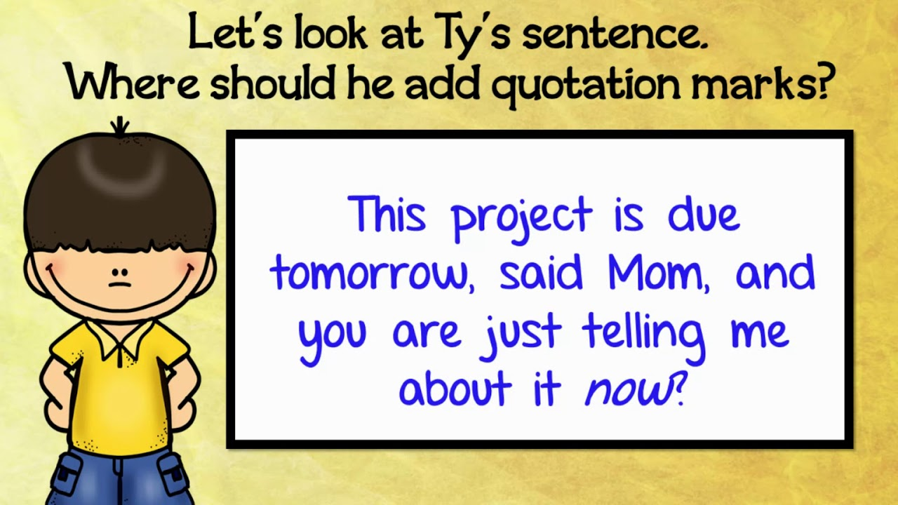 4 6 20 4 5 Center 4th grade ELA Dialogue Rule #1 Quotation marks enclose  the words the characters - YouTube [ 720 x 1280 Pixel ]