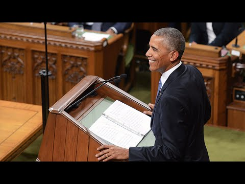 President Barack Obama delivers stirring speech in Parliamen