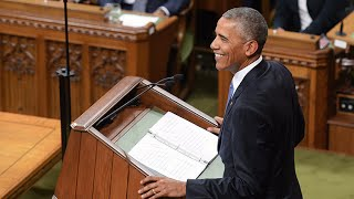 President Barack Obama delivers stirring speech in Parliament thumbnail