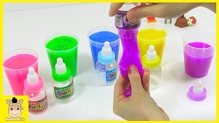 How To Make DIY Learn Colors With Rainbow Colors Slime Fun for Kids | MariAndKids Toys