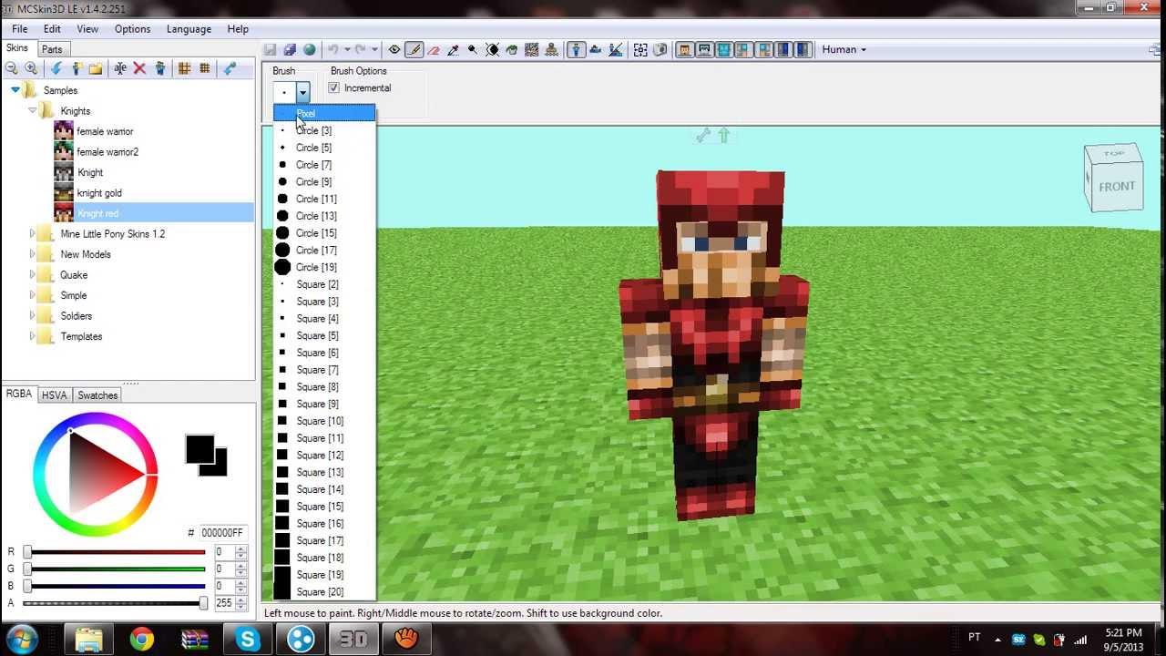 Como usar o background image - Como Usar O Mcskin Editor 3d