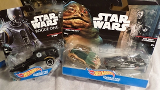Unboxing Hot Wheels Han Solo in Carbonite Rancor Monster Bossk by Spitfire Toys