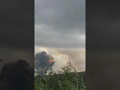 Взрывы арсенала в Красноярском крае между Ачинском и Назарово