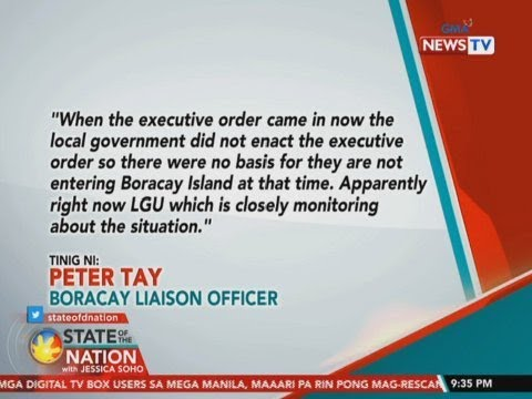 SONA: 303 Chinese na may travel history sa China, inoobserbahan ng Malay LGU