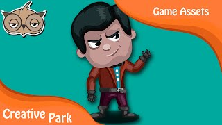 Game Designing - How to Design Character 01 in Adobe Illustrator Part 01