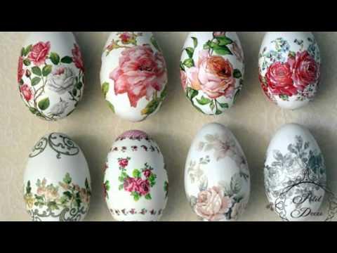 Очаровательный декупаж яиц на пасху или как украсить ...