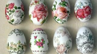 Очаровательный декупаж яиц на пасху или как украсить пасхальное яйцо