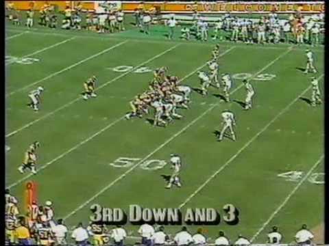 Golic intercepts Everett - 9/23/1990