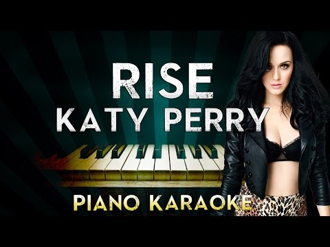 Katy Perry - Rise | Piano Karaoke Instrumental Lyrics Cover Sing Along
