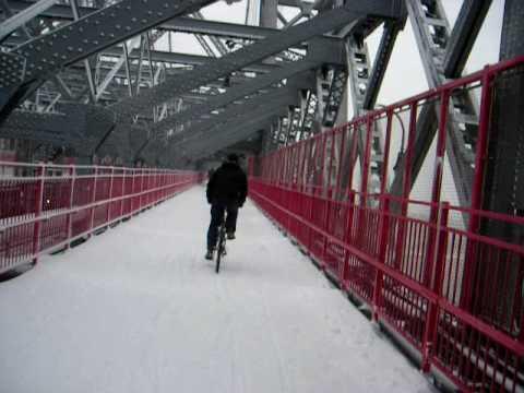 Williamsburg Brooklyn Snow Ride