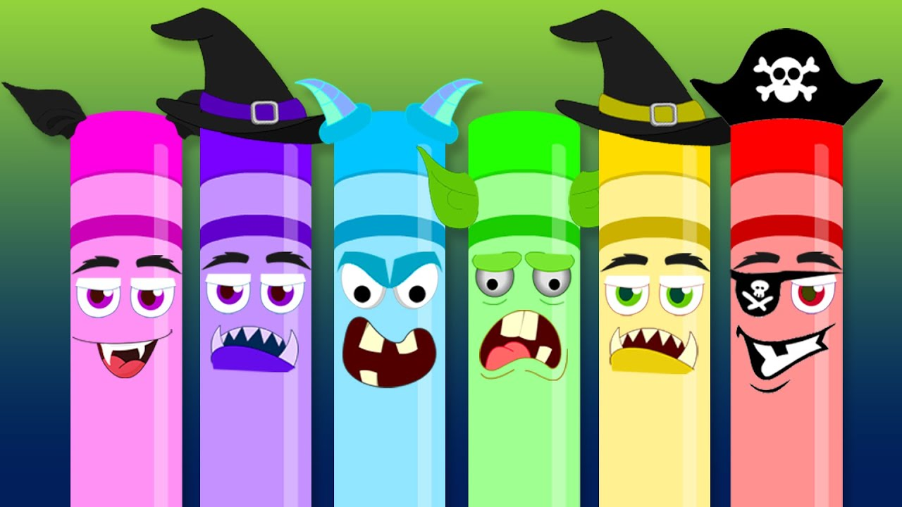 Scary Crayons Song | Songs for Kids | Nursery Rhymes for Kids - YouTube