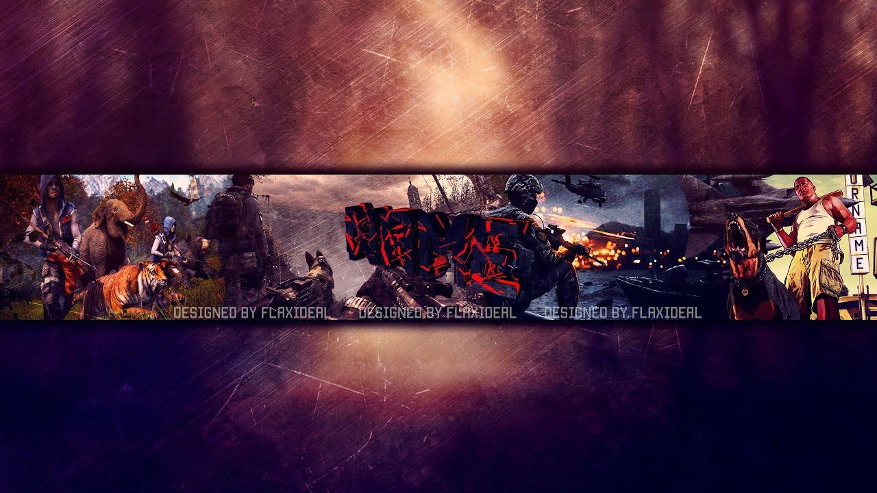 fresh youtube gaming banner template incheonfair