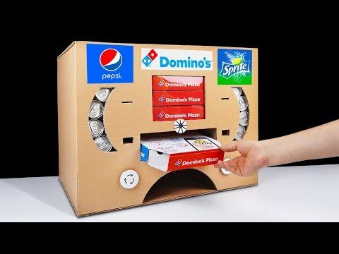 DIY How to Make Dominos Pizza Pepsi and Sprite Vending Machine