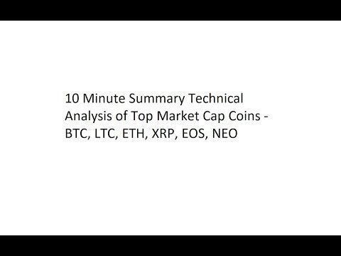 10 Minute Summary Technical Analysis of Top Market Cap Coins - BTC, LTC, ETH, XRP, EOS, NEO