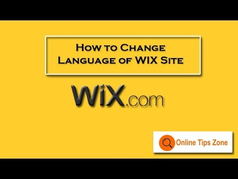 How to change language in WIX Website