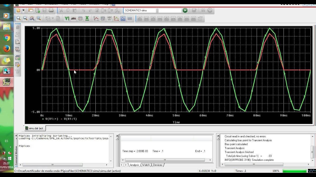 Circuito Rectificador De Media Onda : Creación y simulación de circuito rectificador media