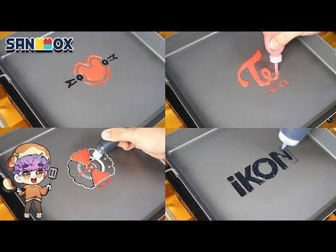 kpop-group-logo-pancake-art-exo,-twice,-momoland,-ikon-series-2