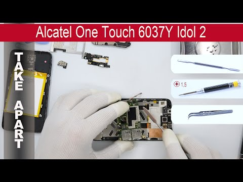 How to disassemble 📱 Alcatel One Touch Idol 2 6037Y, Take Apart, Tutorial
