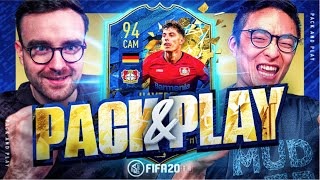 KAI HAVERTZ AND TWO GUARANTEED TOTS PACKS!!! Fifa 20 Pack And Play