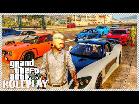 GTA 5 ROLEPLAY - RACE NIGHT EVENT PART 1! Taking RX-7 To Drag Strip | Ep. 29 Civ