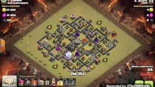 Clash of clans strategia attacco th9 3 stelle war