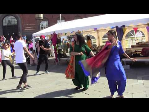 Bhangra Dance From Punjab of India At The City Square Of Copenhagen