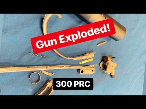 We Blew Up A 300 PRC TC Encore! Safety Tips For Magnum Thompson Center Rifles