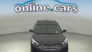 A10650YT Used 2015 Hyundai Santa Fe Sport 2.4L AWD Blue SUV Test Drive, Review, For Sale