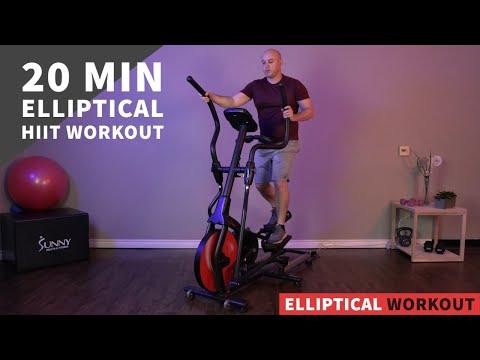 20 Min Intense, Low Impact, Elliptical HIIT Workout