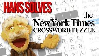 Hans Solves The New York Times Crossword