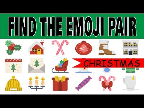 christmas-find-the-same-emoji---find-the-emoji-pair-brain-teaser-puzzle---christmas-riddles