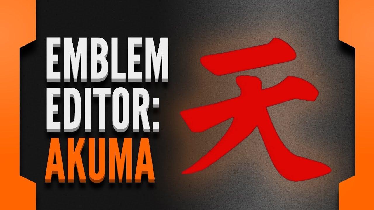 Black Ops 2 Emblem Editor Akuma Gouki Symbol Youtube