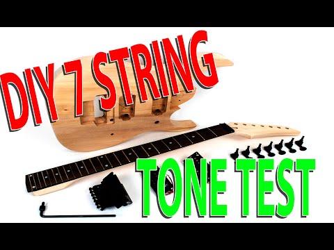 diy 7 string guitar demo