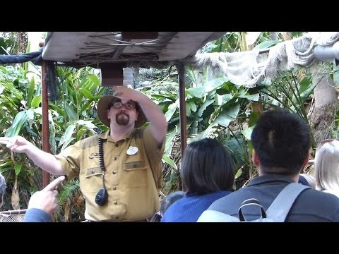 The BEST Skipper on the Jungle Cruise Ride - So Funny!  Disneyland (Full Ride) POV