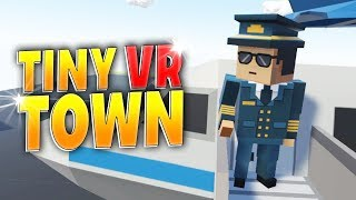 Tiny Town VR - VR LEGO BUILDING GAME | DETAILED CITY BUILDING - Tiny Town VR Gameplay (HTC Vive)