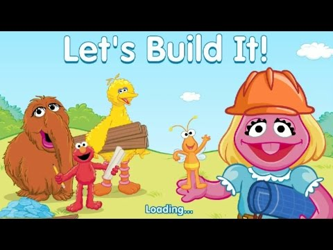 Sesame Street Let's Build It Game with Fairy Elmo and Big Bird Construction Work