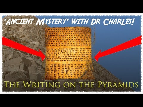 The WRITING on the GREAT PYRAMID contained information on LOST SUPERCIVILIZATION?!