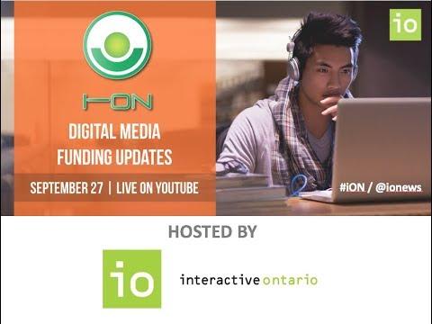 iON - Digital Media Funding Updates - Live