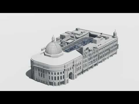 Complete BIM model of Monument Mall, Newcastle Upon Tyne