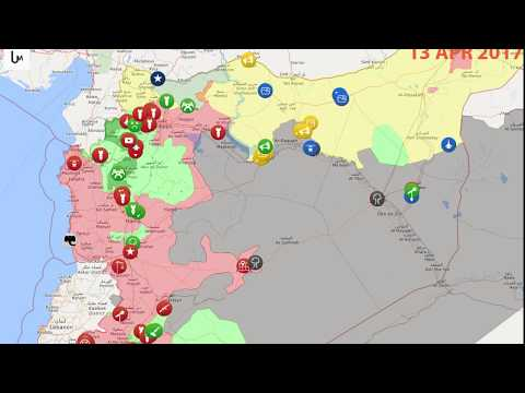 Animation map of situation in Syria since 21 November 2016 to 1 November of 2017